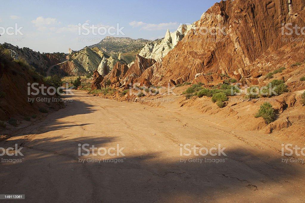 Cottonwood Canyon Road, Kane County, Utah stock photo