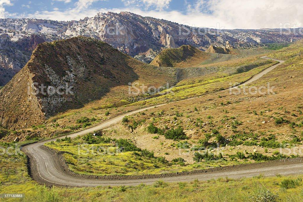 Cottonwood Canyon Road, Utah. stock photo
