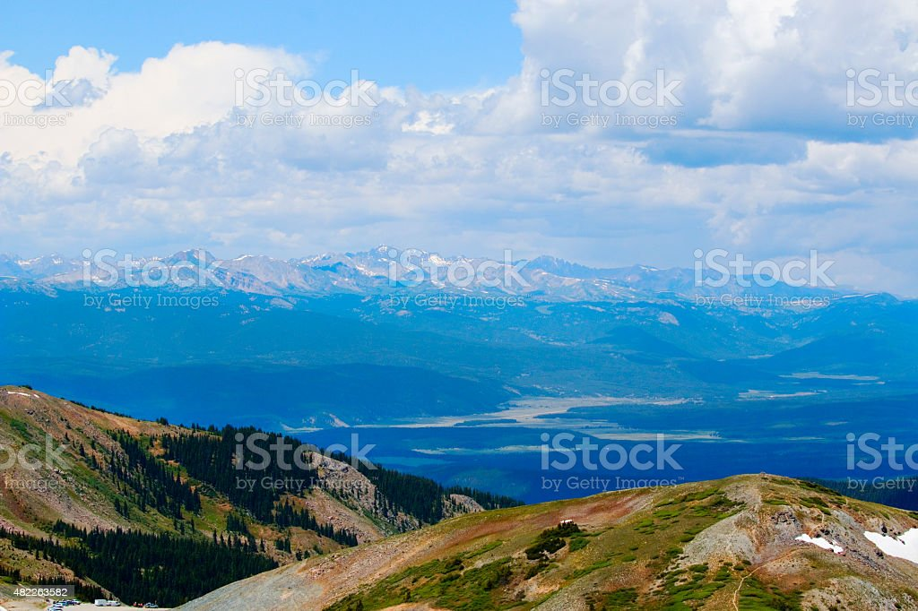 Cottonwood Pass and the Colorado Continental Divide stock photo