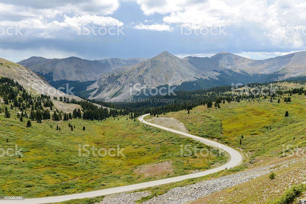 Cottonwood Pass stock photo
