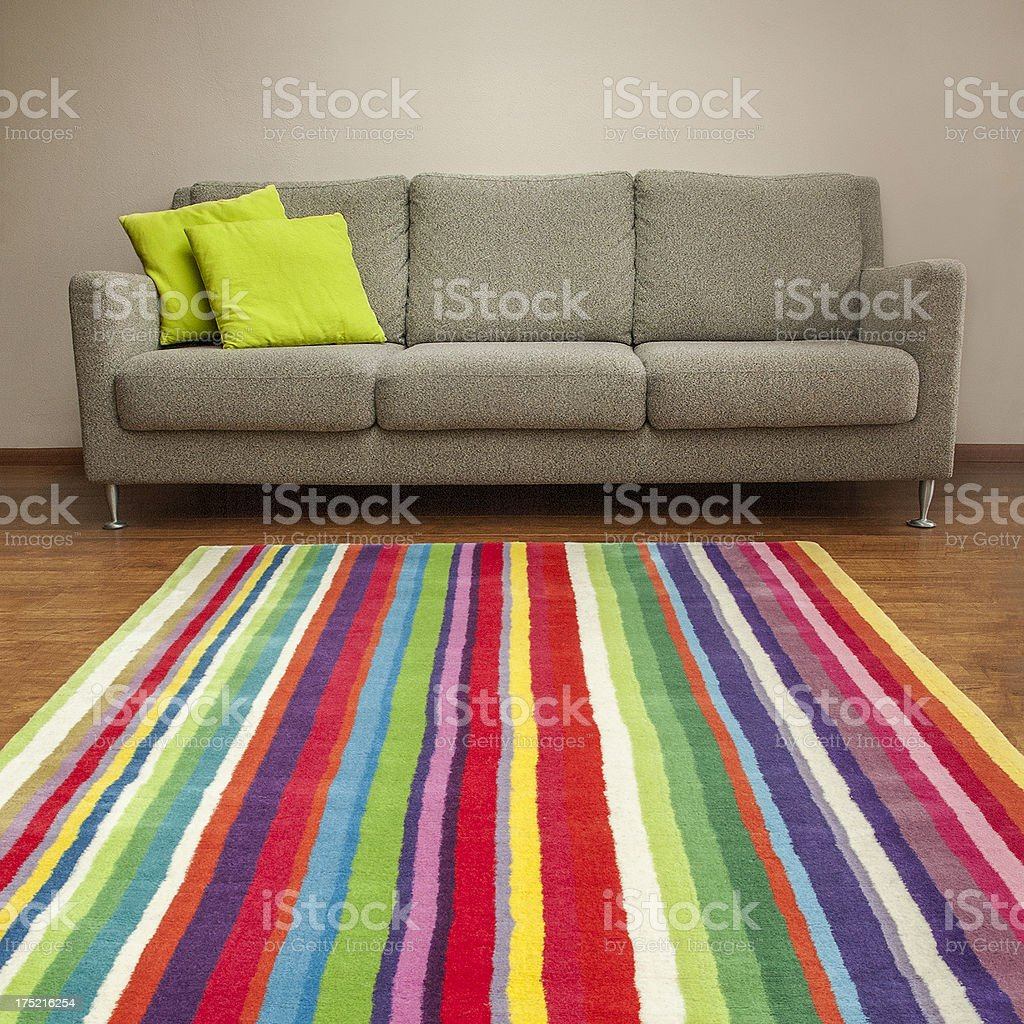 couch & carpet | square version stock photo