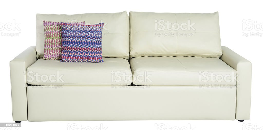 Couch. Clipping path stock photo