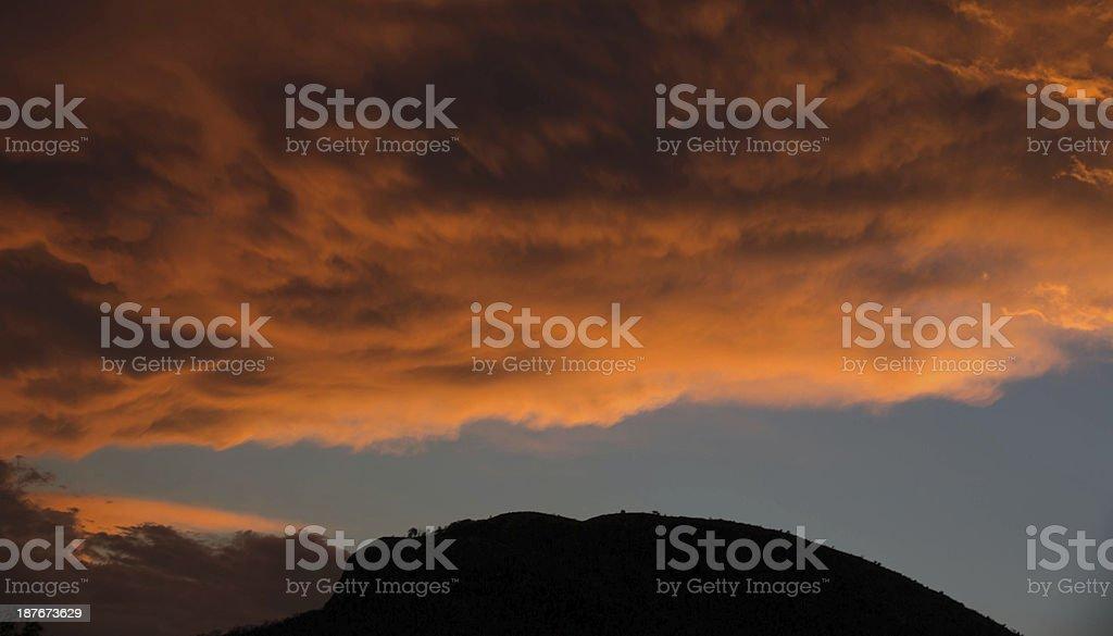 Couché de soleil apres l'orage stock photo