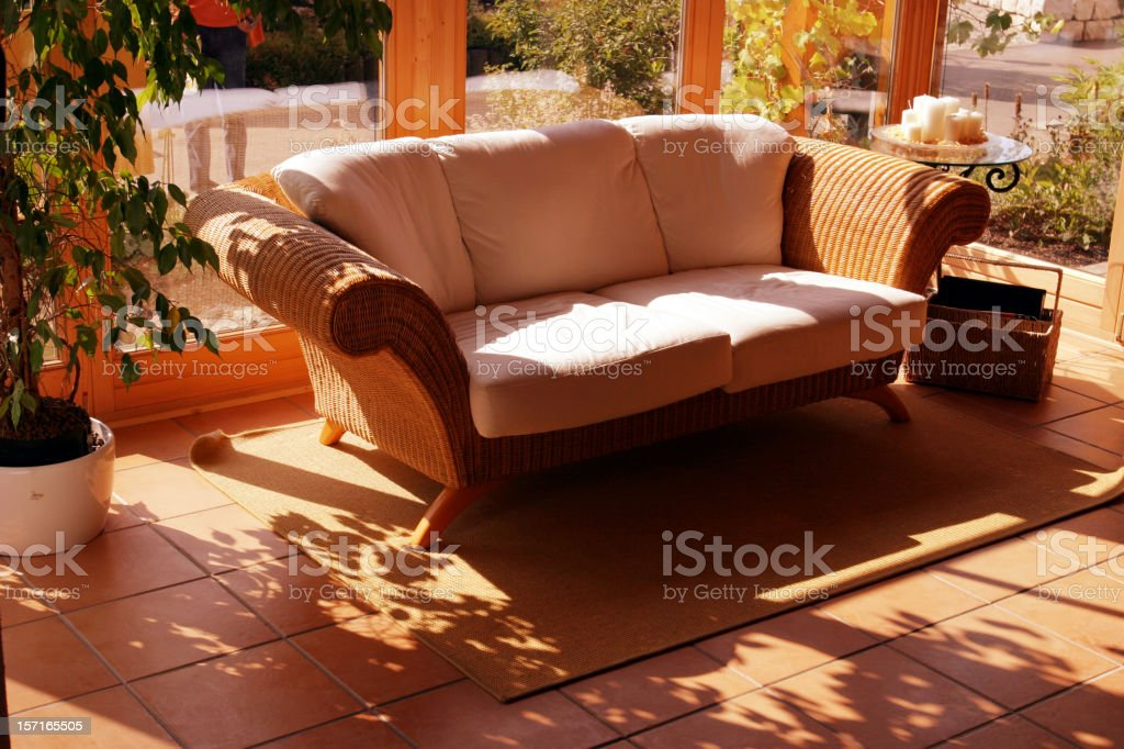 Couch in the sun royalty-free stock photo