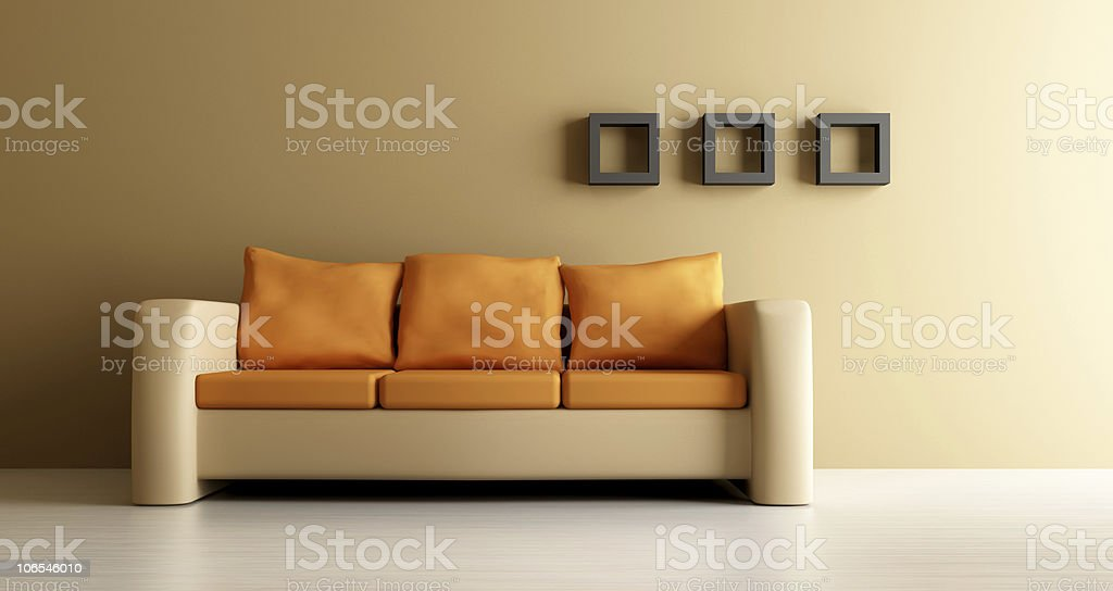 couch vector art illustration