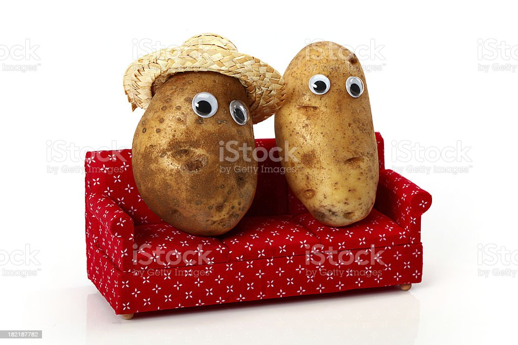 Couch Potatoes stock photo