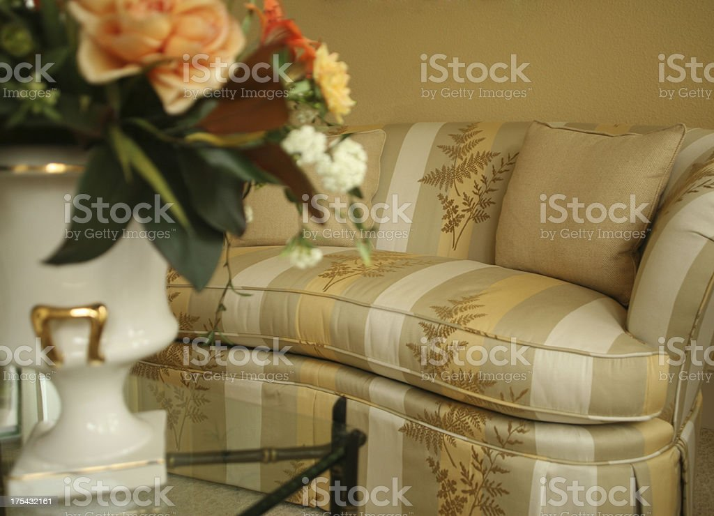 Couch with Flowers royalty-free stock photo