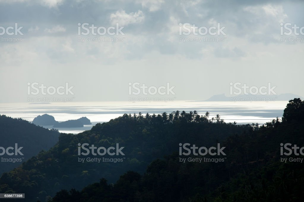 coucher de soleil sur la mer stock photo