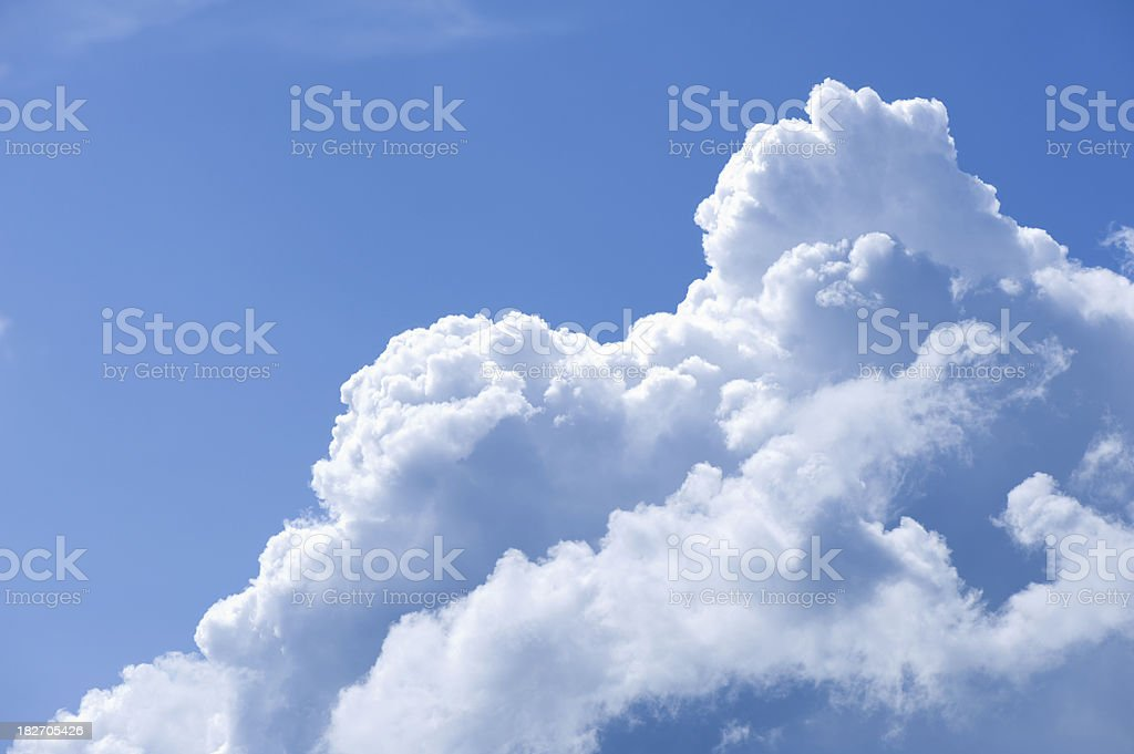 Couds in blue skye stock photo