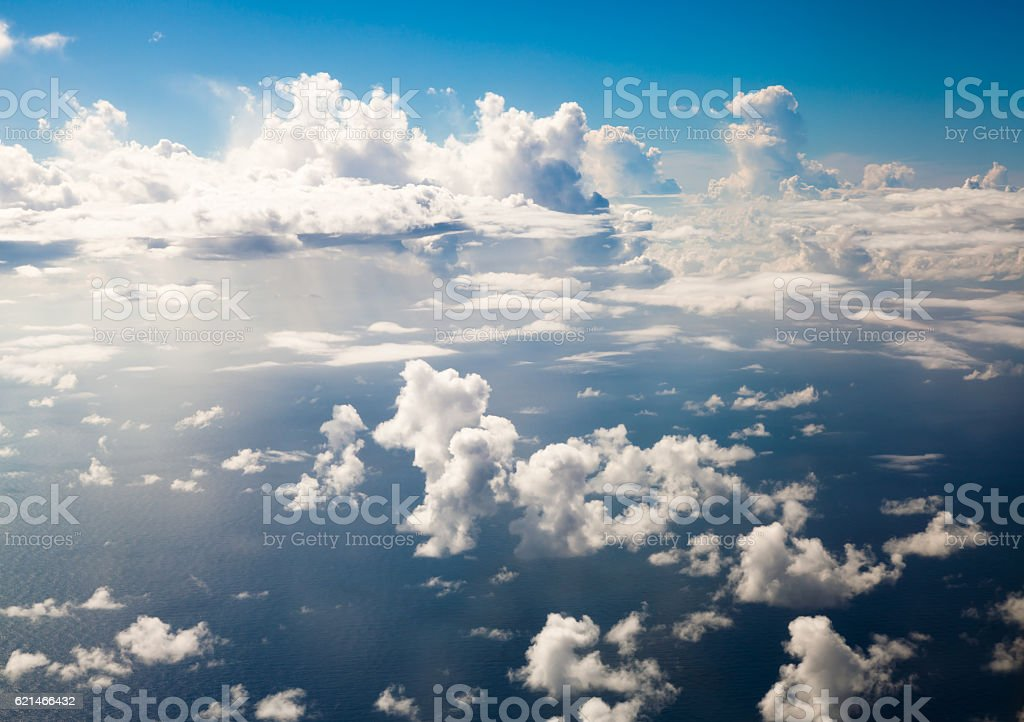 Couds, sea,sky stock photo