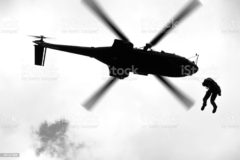 Cougar winch operation stock photo