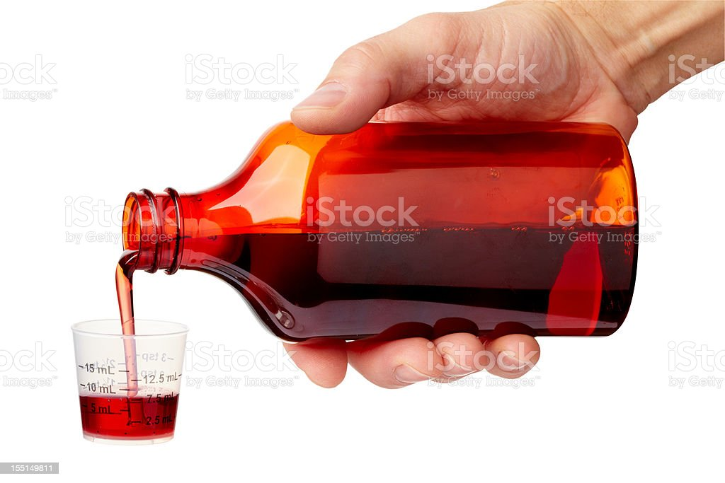 Cough Medicine royalty-free stock photo