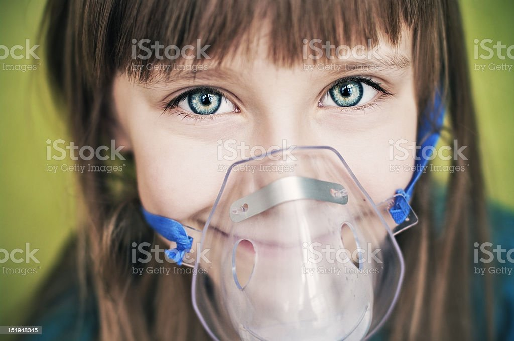Cough relieving inhalation stock photo