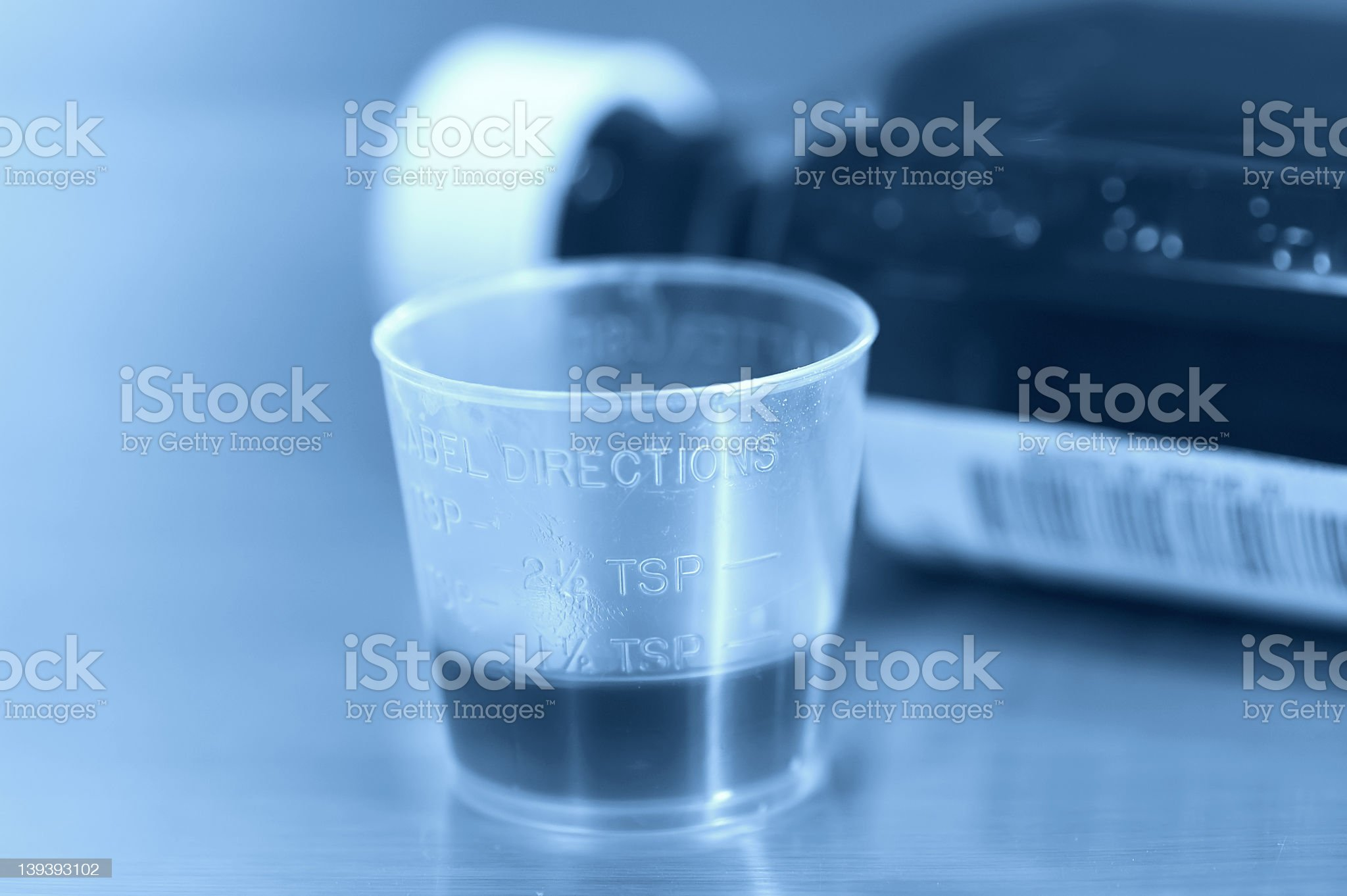 Cough Syrup 2 royalty-free stock photo
