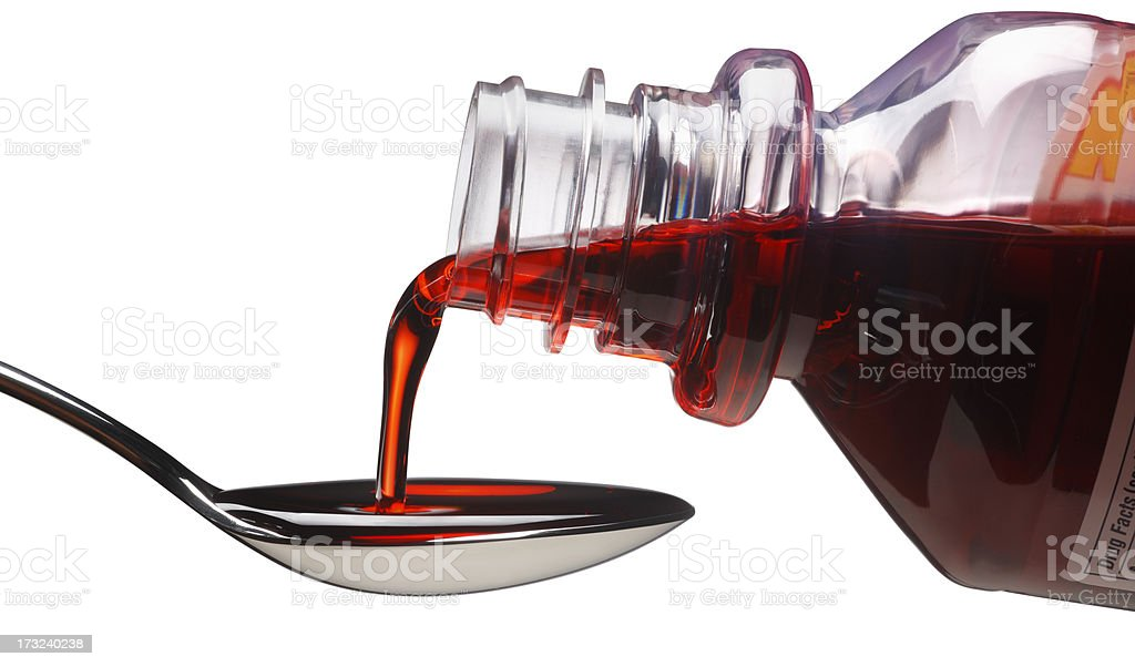 Cough Syrup stock photo
