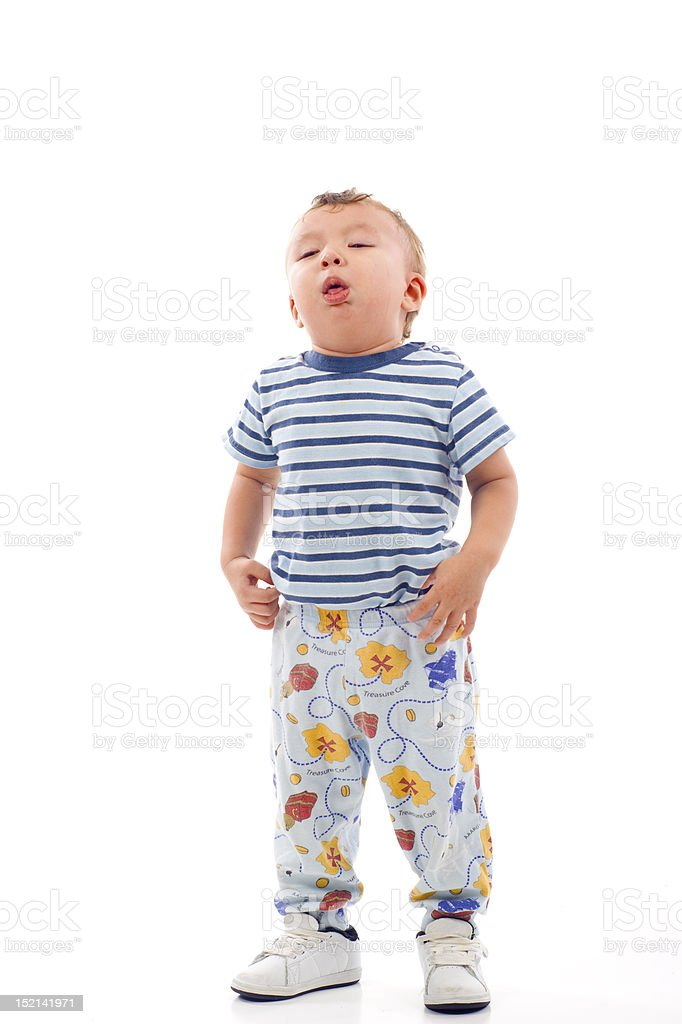 Coughing Baby royalty-free stock photo