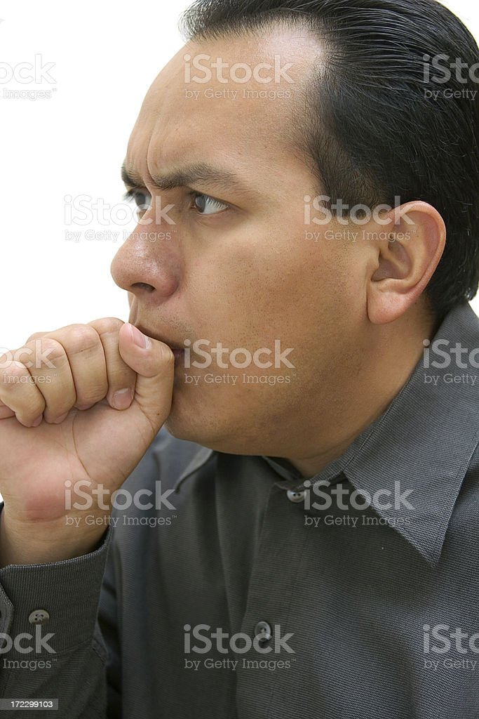 coughing royalty-free stock photo