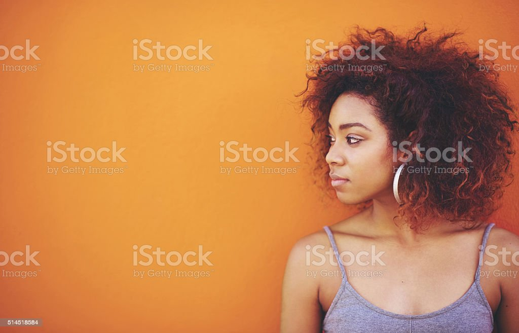 I could rule the world with these curls stock photo