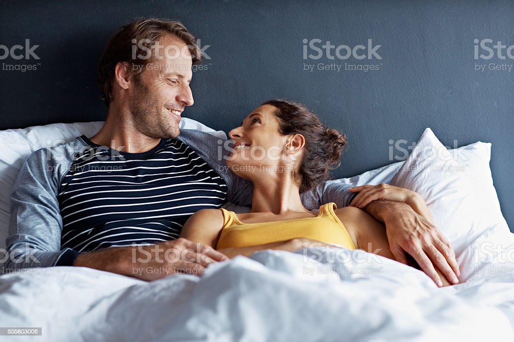 I could stay in bed all day stock photo