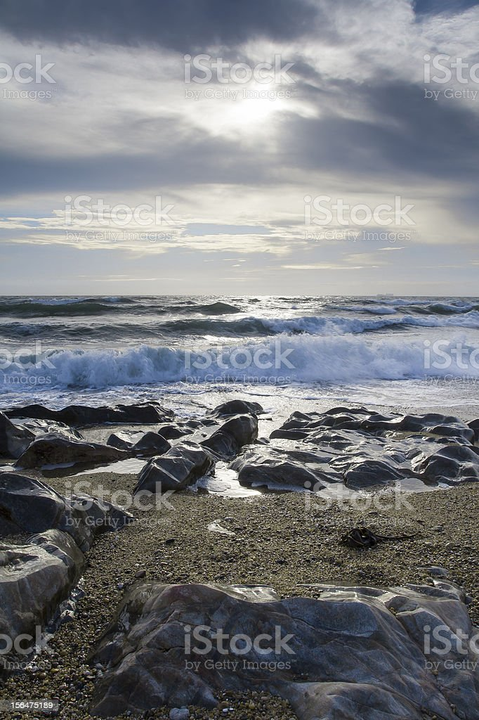 Couldy Sky over the beach royalty-free stock photo