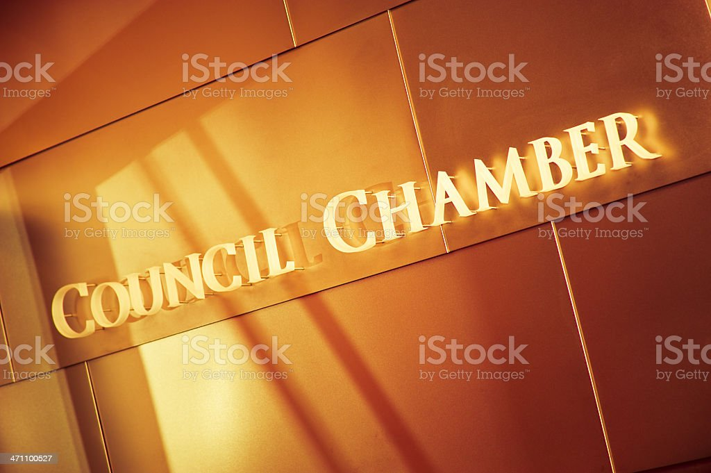 Council Chamber royalty-free stock photo