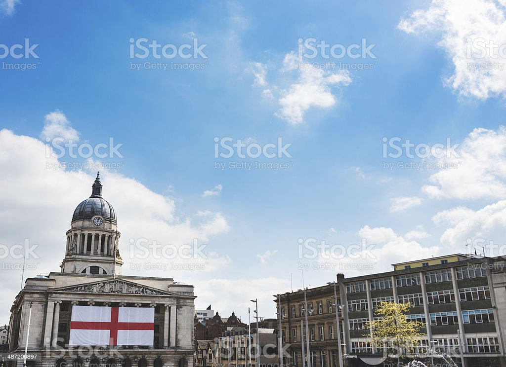 council city building in nottingham on market square stock photo