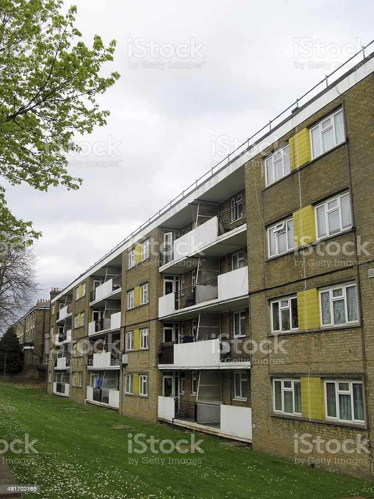 council estate stock photo