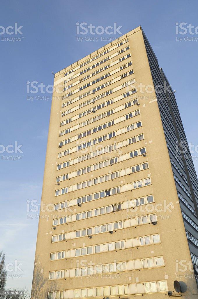 Council Flats in Aston - Birmingham UK royalty-free stock photo