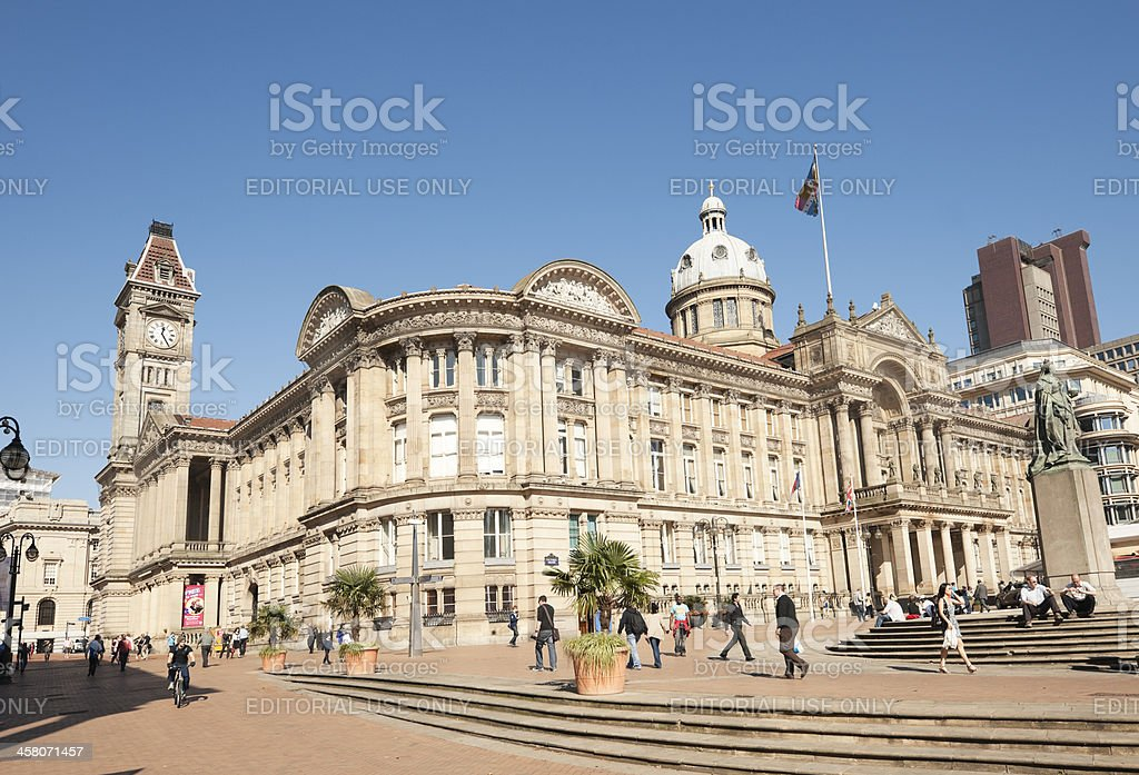 Council House and Museum Birmingham UK royalty-free stock photo
