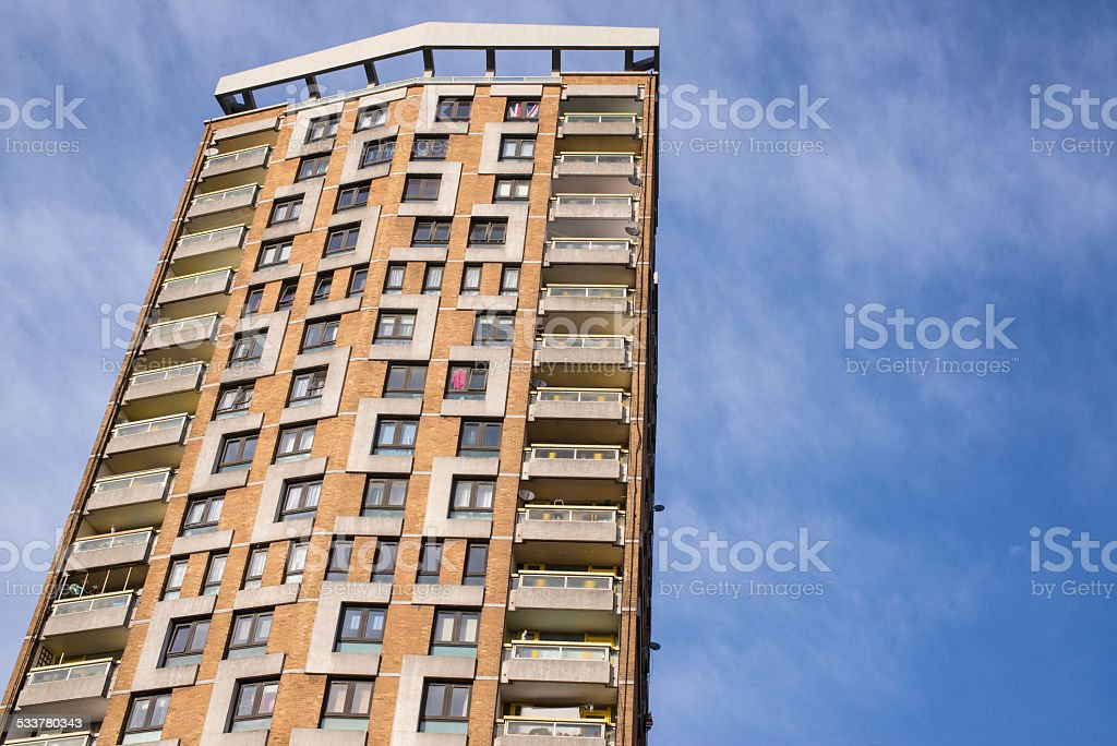 Council houses in big skyscrapers in London, UK. stock photo