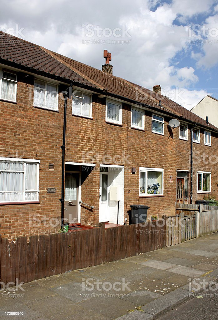 Council Houses in London royalty-free stock photo