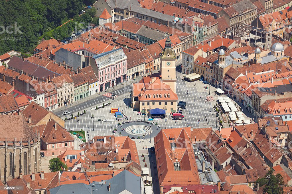 Council Square, Brasov stock photo