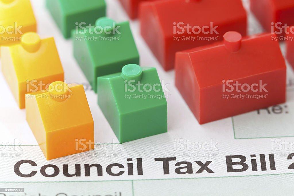 Council Tax Bill royalty-free stock photo