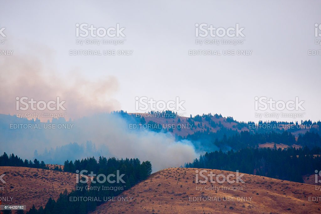 Council Wildfire Fire, Oct 2016 stock photo
