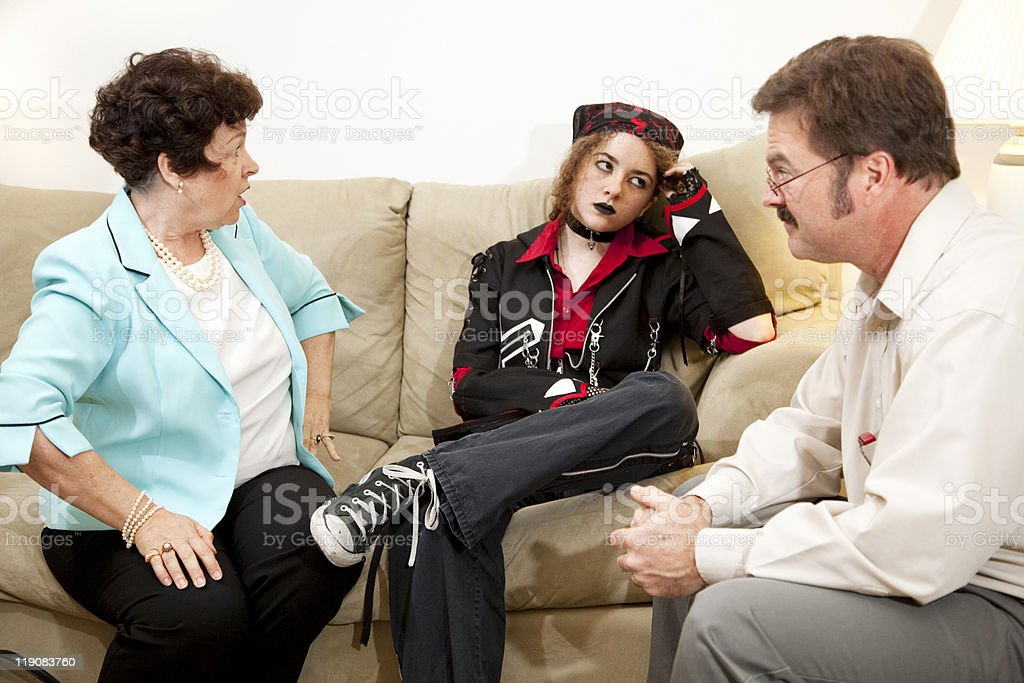Counseling - Exasperation royalty-free stock photo
