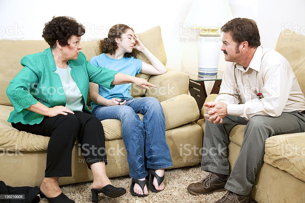 Counseling - Family Drama royalty-free stock photo
