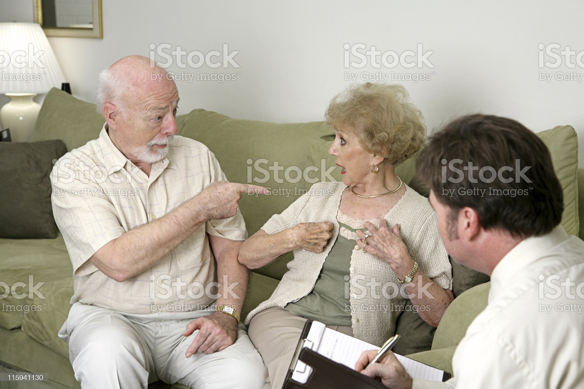 Counseling - Its All Her Fault royalty-free stock photo