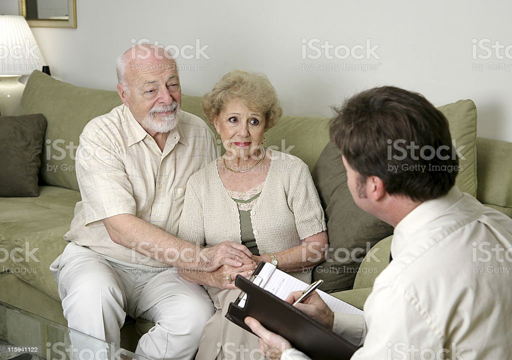 Counseling or Sales Pitch stock photo