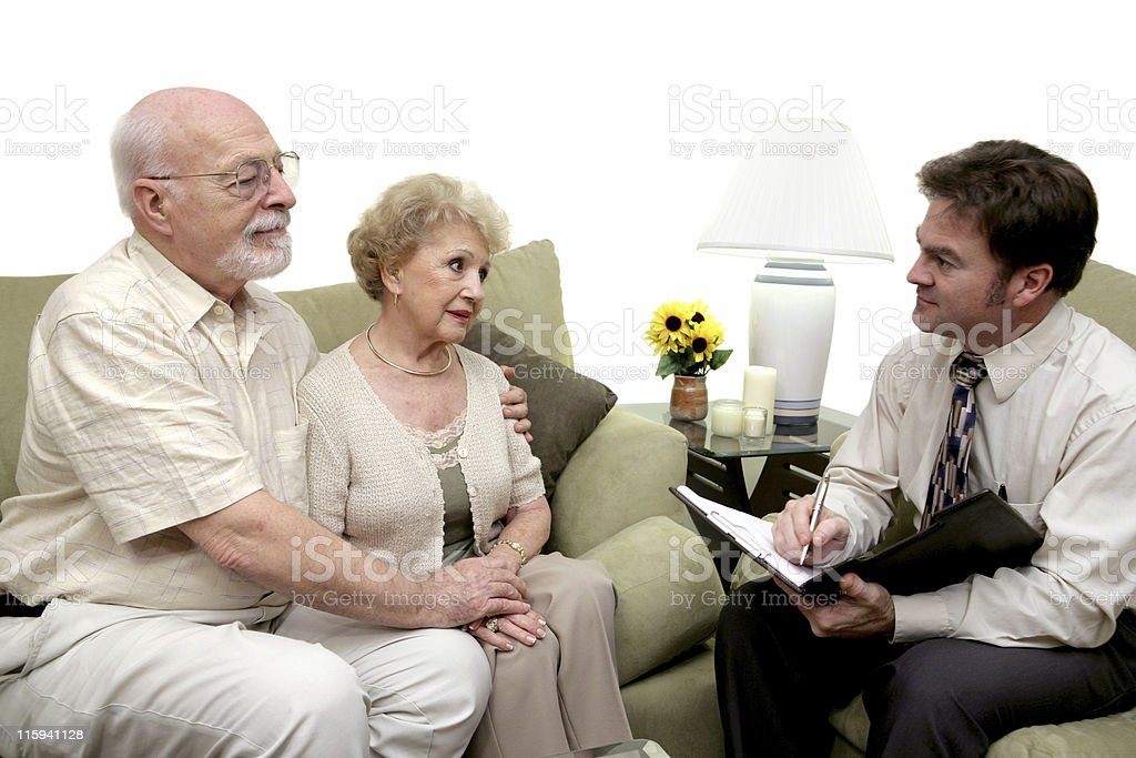 Counseling Session or Salesman stock photo