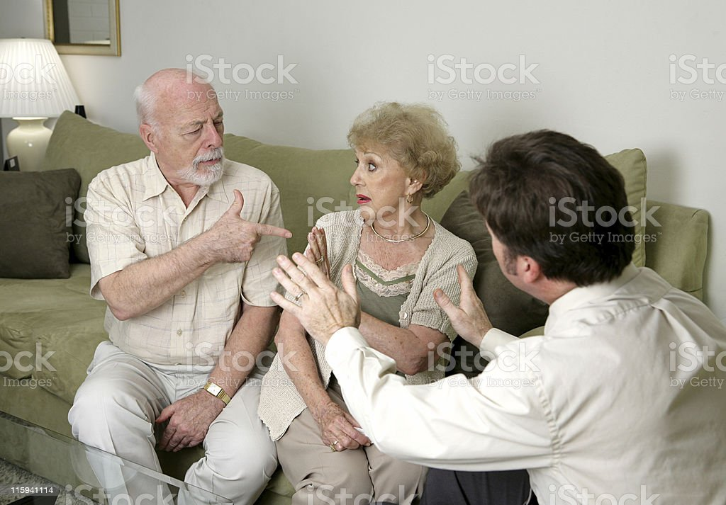 Counseling - Stop Arguing royalty-free stock photo