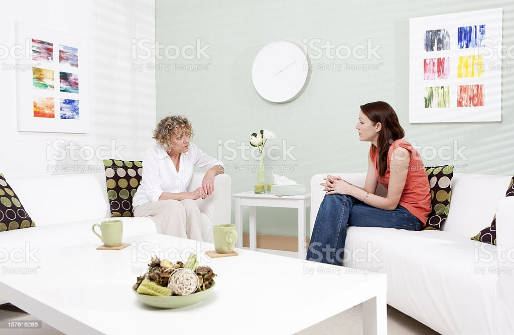counselling session: counsellor and patient royalty-free stock photo