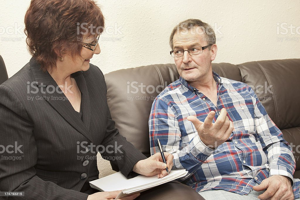 Counselling Session royalty-free stock photo
