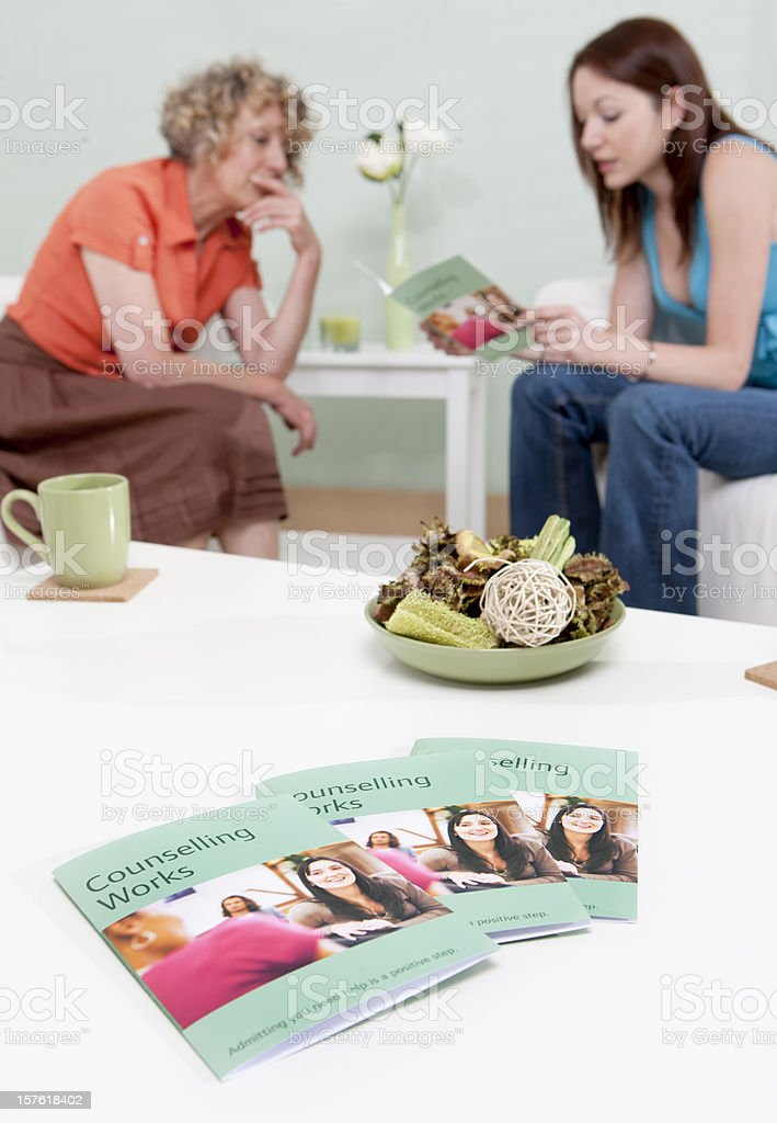 counselling session: practical advice royalty-free stock photo