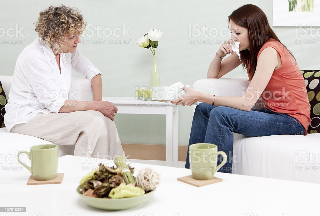 counselling session: tearful client royalty-free stock photo