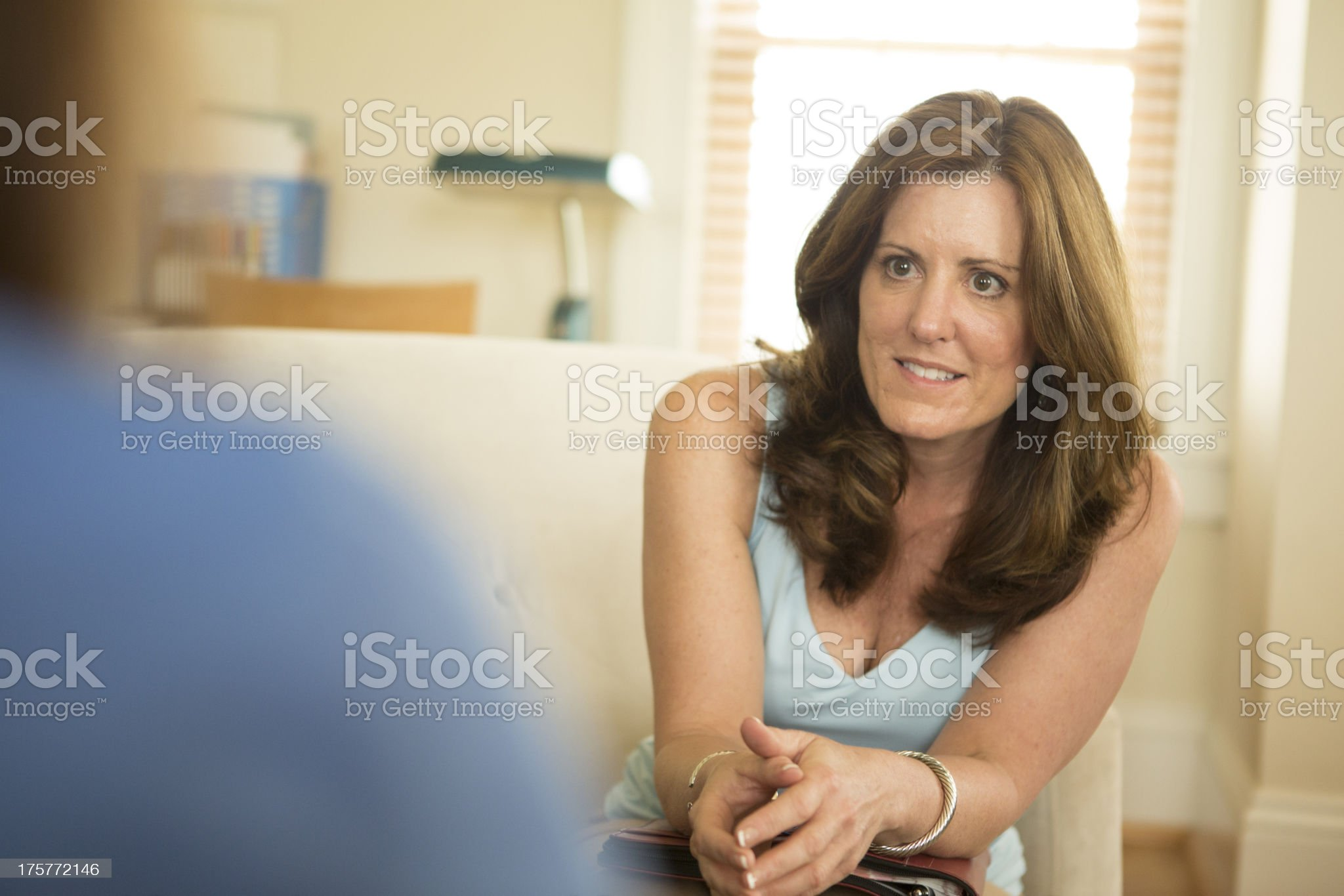 Counselor in Counseling Session royalty-free stock photo