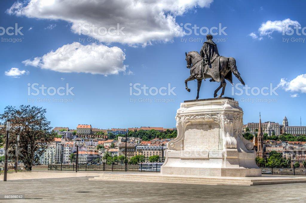 Count Gyula Andrassy Statue stock photo