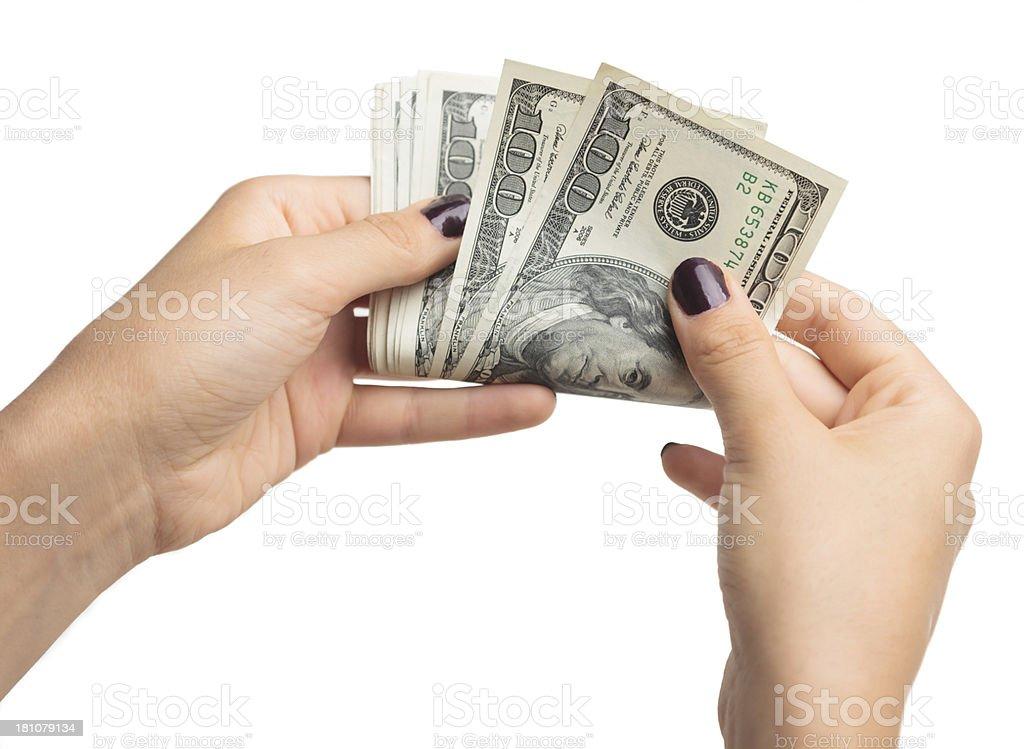 Count money royalty-free stock photo