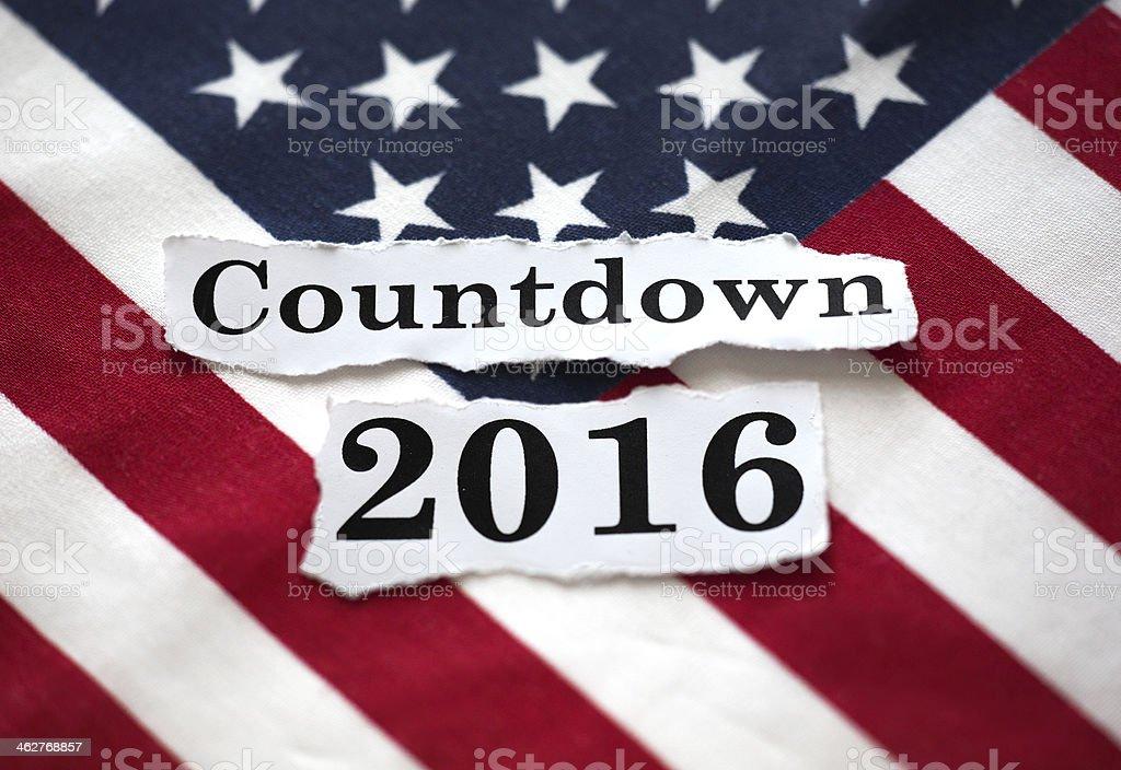 Countdown 2016 stock photo