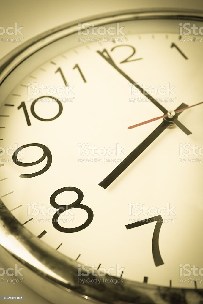 countdown clock to new day stock photo