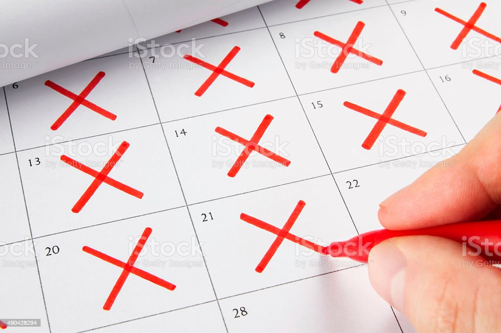 Countdown Concept with Calendar stock photo